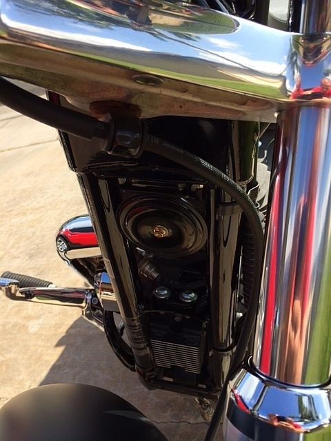 Black Motorcycle Horn 105 dB w/ Wire extension & Bracket DK Custom Harley Davidson Sportster Loud