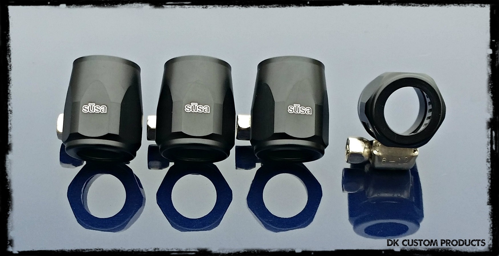Black Hose Finishers Covers for Breather & Oil Hose Lines DK Custom Products Harley Davidson Premium Discrete Magna Clamp
