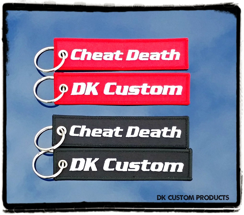 Harley DK Custom Key Tag Chain Ring Remove Before Flight Cheat Death Gift