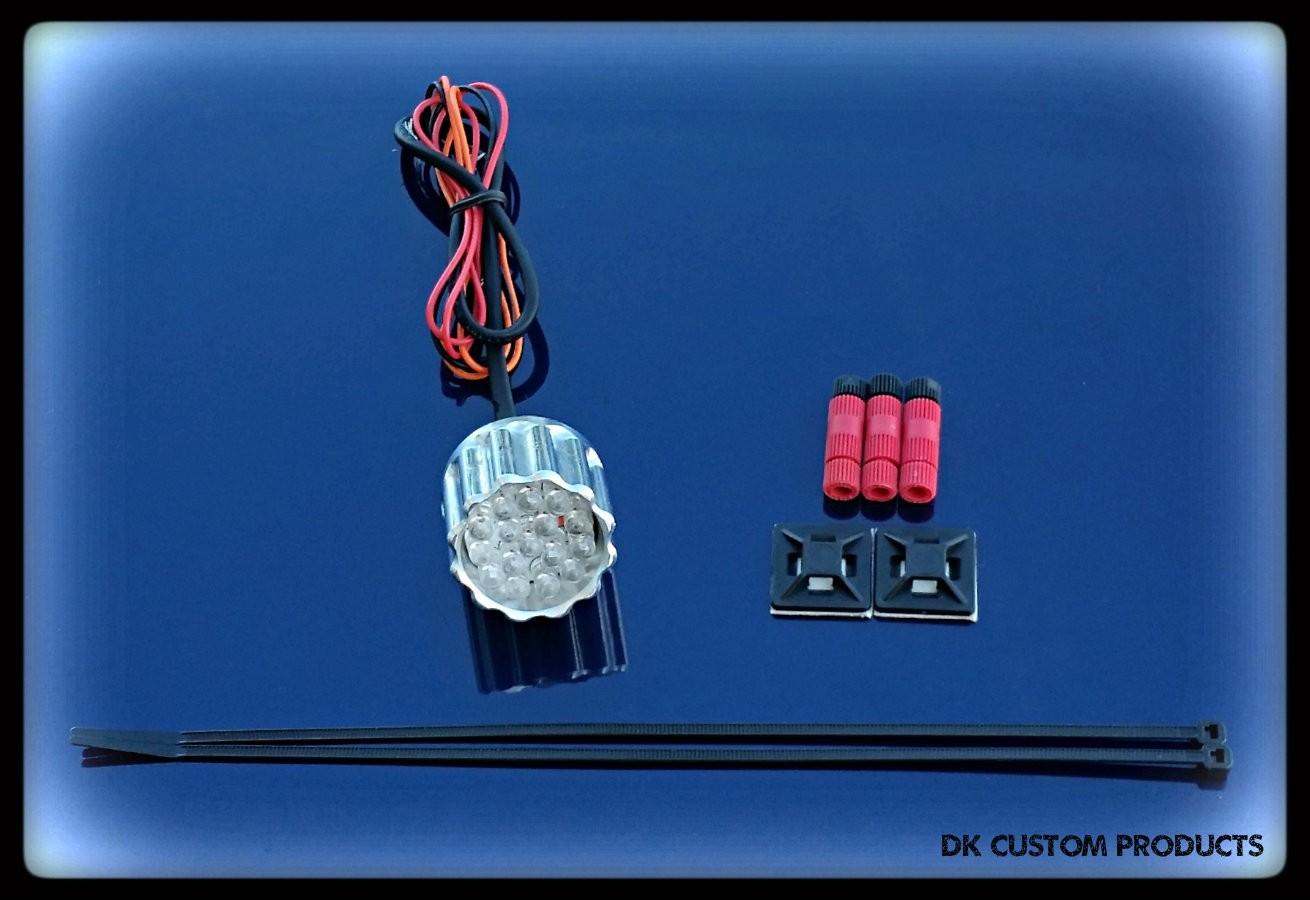 DK Custom LED Tail Light Billet 22LR Super Bright Running Light Brake Light Harley Sportster Dyna