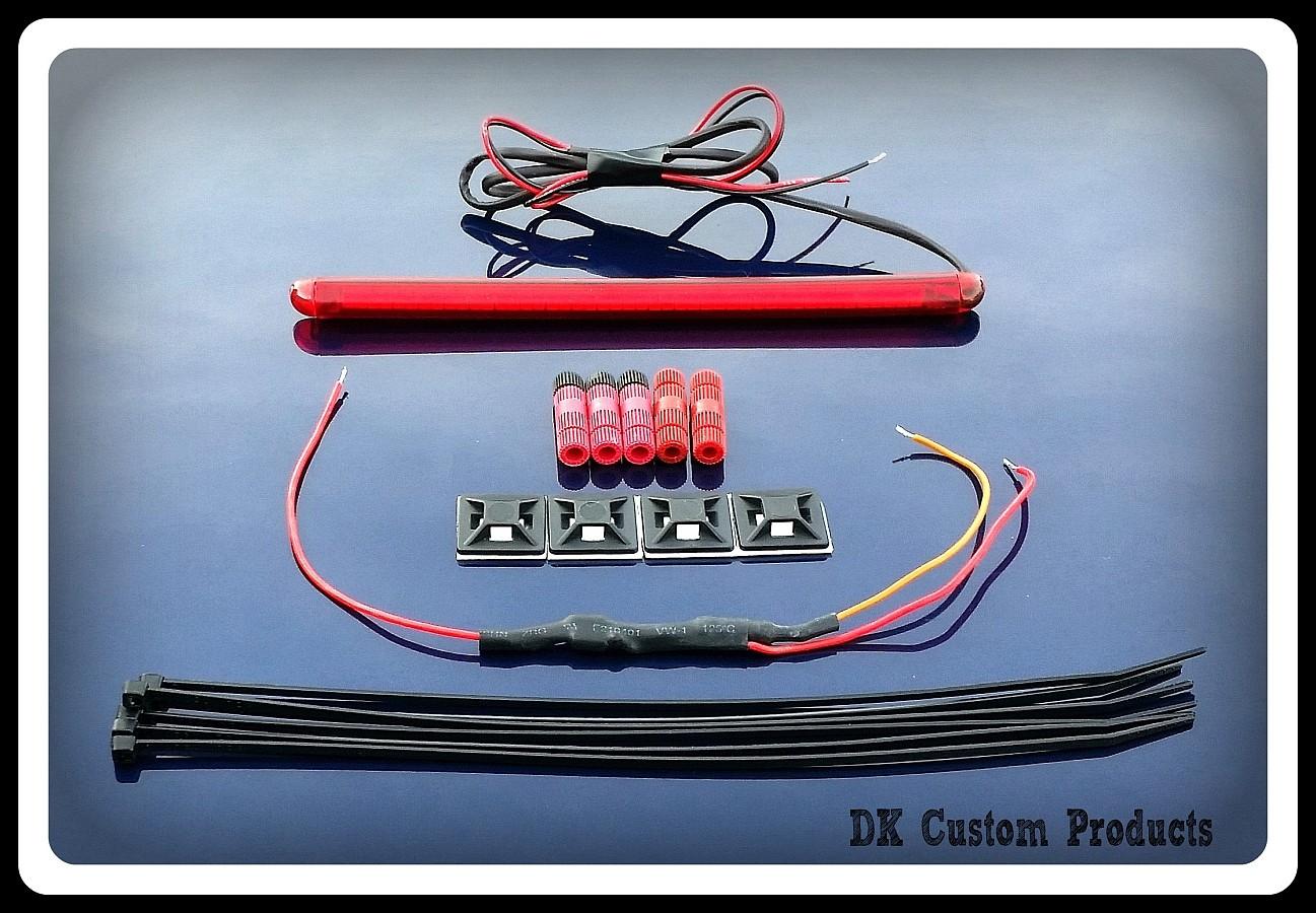 DK Custom 50 LED Run Brake Light Strip License Plate Relocation Harley-Davidson Sportster Dyna Softail