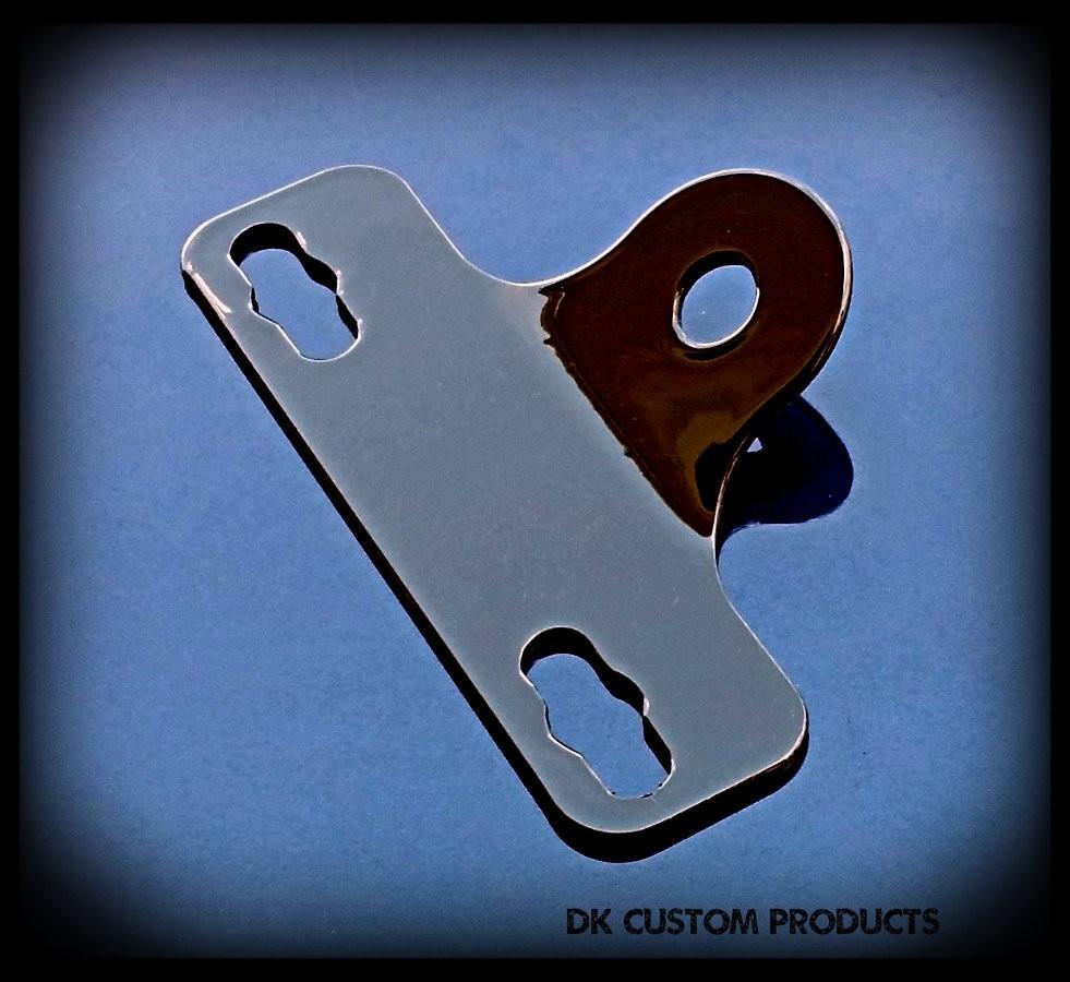 DK Custom Products Harley Sportster Dyna Softail License Plate Relocation Relo Bracket 22LR LED Tail Light Brake