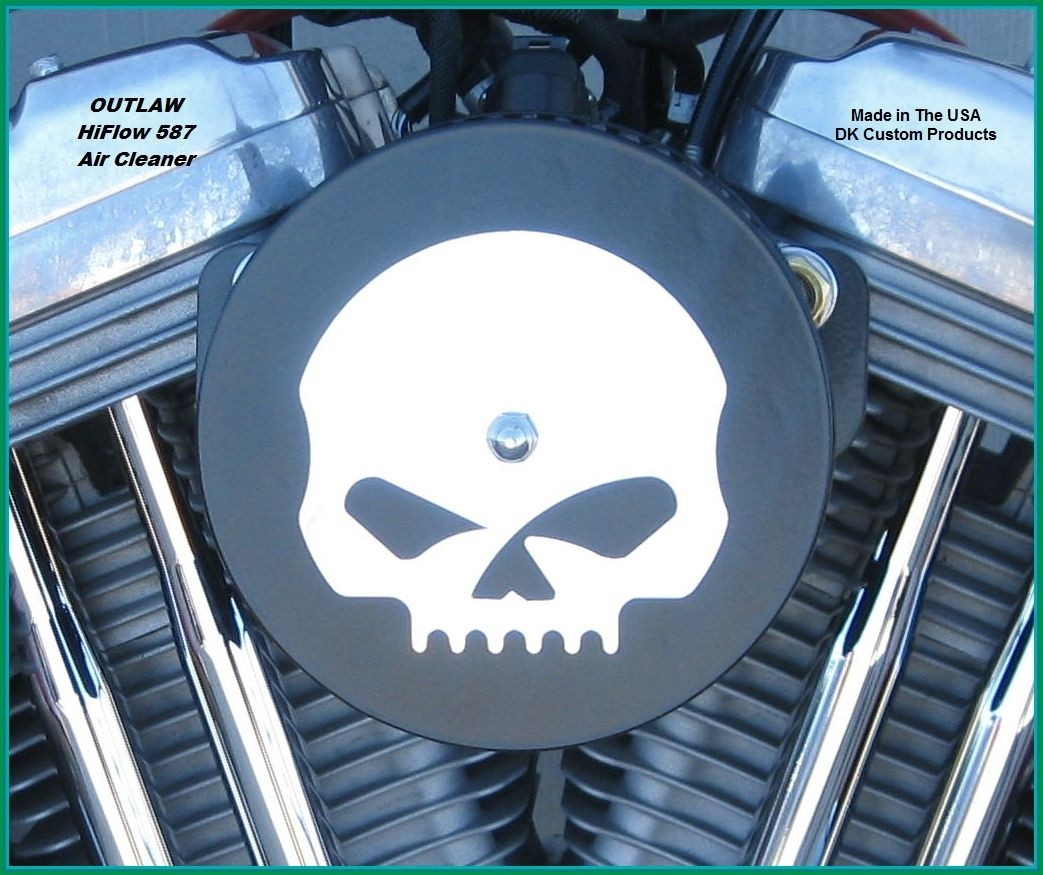 Mirror Finish on Black Powder HiFlow 587 Air Cleaner System Sportster Harley Davidson High Flow Air cleaner DK Custom Nightster Iron 48 Custom Low SuperLow Bobber Stage I K&N EFI Carbureted Complete High Performance