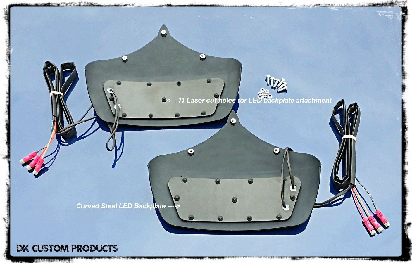 DK Custom Run-Brake- Turn LED Retrofit Kit for Tri-Glide Mud Flaps Harley-Davidson Kuryakyn RBT SEE AND BE SEEN