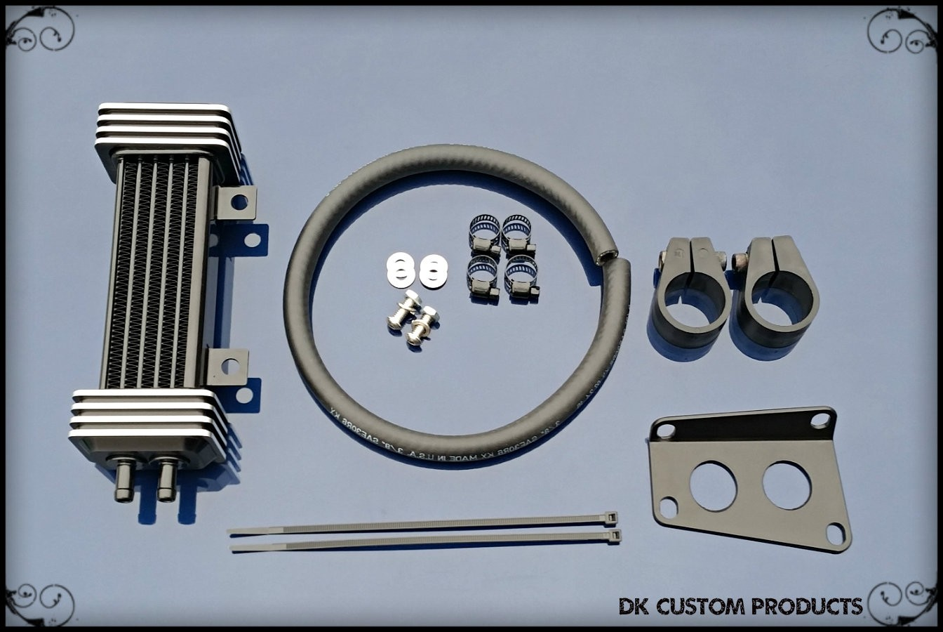 Dual-Cool Oil Cooler for 2009-Up Touring Models Incl. Twin Cool Harley-Davidson Motorcycles DK Custom High Flow Performance Softail Touring Trike Freewheeler Big Twin Evo Milwaukee Eight Sportster  Cooler Running Motor Jagg HD Black