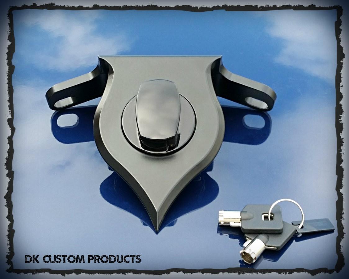 DK Custom Products Harley Davidson Sportster Billet Coil Relocation Kit Barrel Key Ignition Black Chrome
