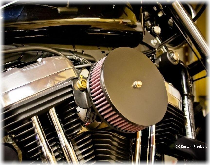 Complete HiFlow 587 Air Cleaner Sano Black for Sportsters Harley Sportster Harley Davidson High Flow Air cleaner DK Custom Nightster Iron 48 Custom Low SuperLow Bobber Stage I K&N EFI Carbureted Complete High Performance