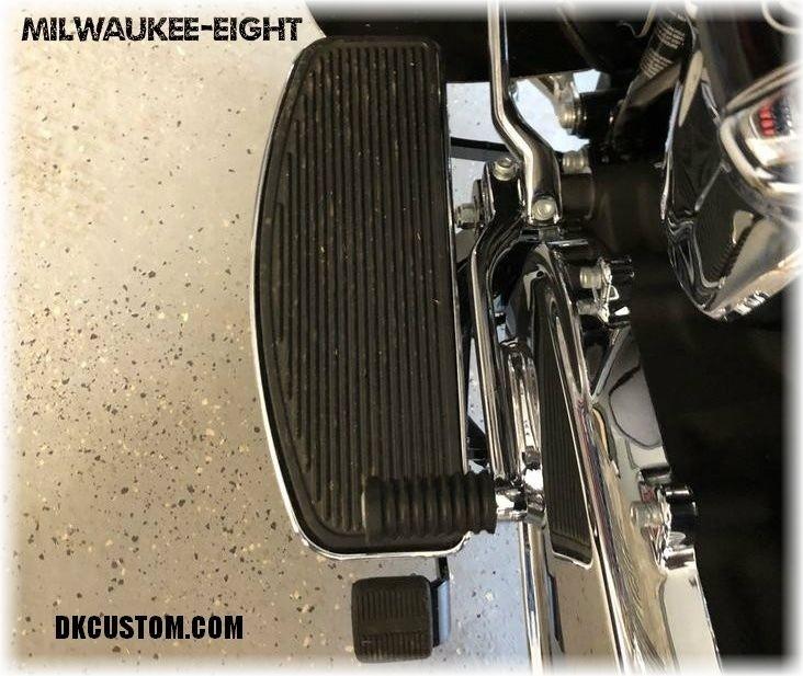 DK Custom Harley Floorboard Extension for Trikes Tri-Glide Touring Bagger Street Glide Freewheeler Reduce felt Heat