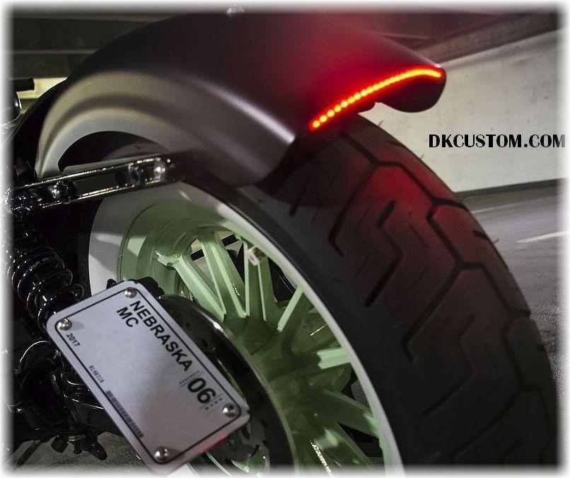 DK Custom Stealth LED Run-Brake-Turn Lights - True Plug-n-Play Harley Sportster 48 72 Custom Dynamics SEE & BE SEEN