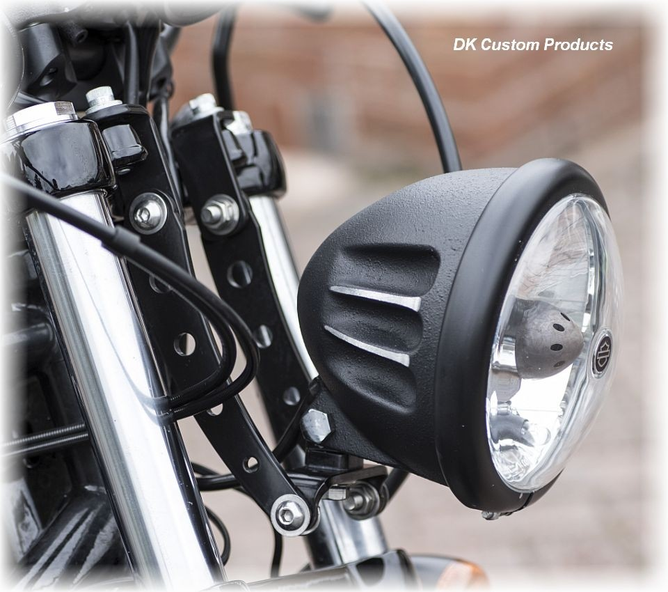 Modular Headlight Relocation Bracket -Sportster - Dyna - Softail