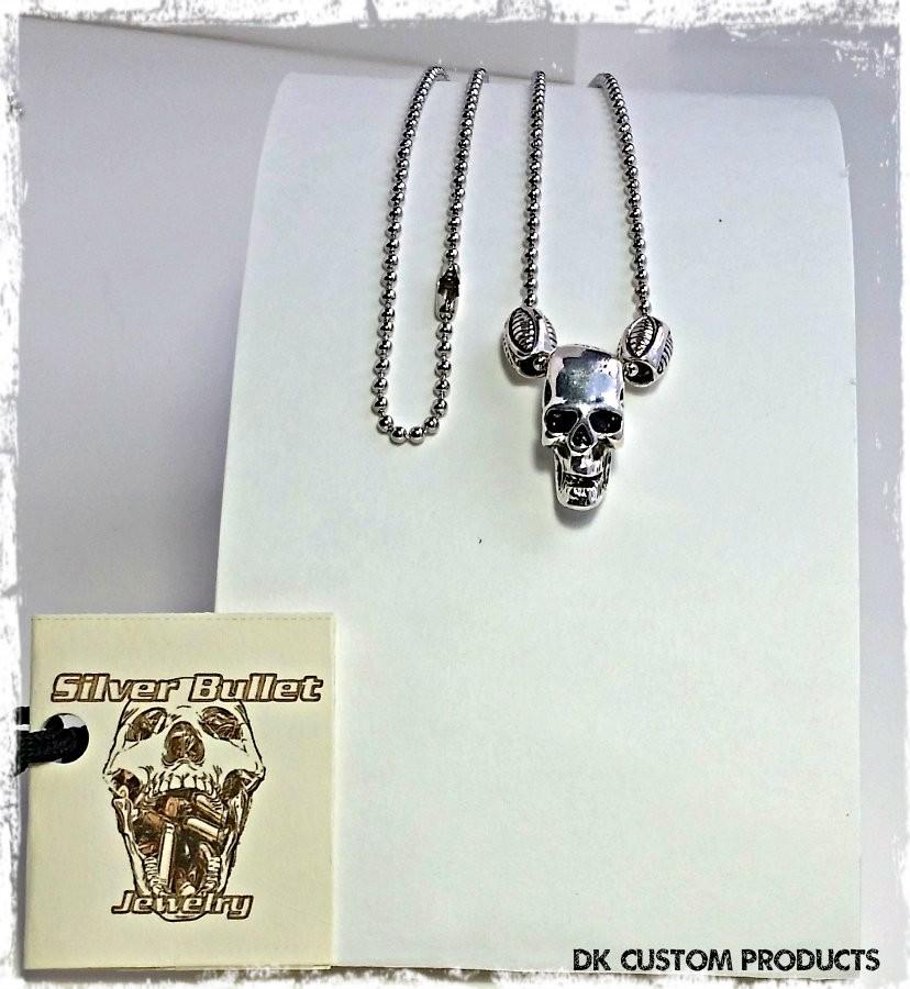Silver Bullet Jewelry DK Custom Products Biker Harley Choker Necklace earrings bracelet key chain