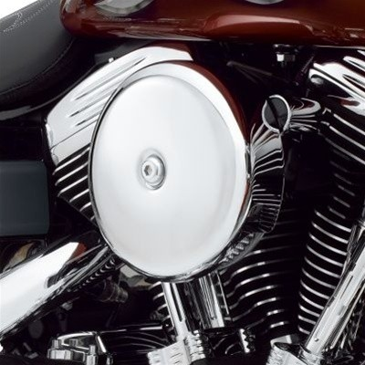 Smooth Chrome Bobber Cover Face Plate Harley Davidson 606 587 425 aluminum polished chrome Big Sucker Pro-Billet Made in USA contrast cut sano black High Performance air cleaner system Sportster Big Twin Evo DK Custom Outlaw Air Cleaner Interchangeable Fa