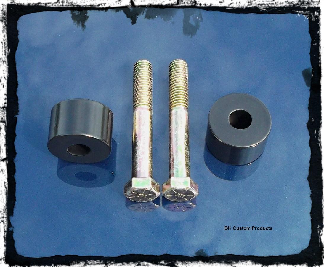 DK Custom Handlebar Riser Extensions Fat Risers Harley Dyna Softail Spostster