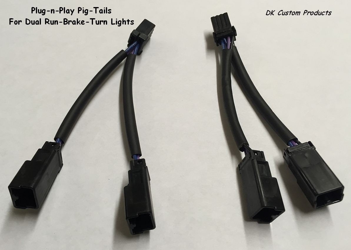 DK Custom Plug-n-Play Pigtail Connector for Stealth R-B-T LED Lights Harley Sportster 48 72 Custom Dynamics SEE & BE SEEN