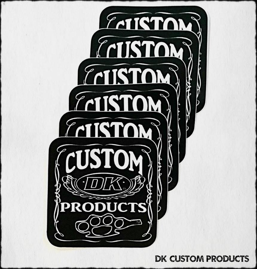 DK Custom Products Vinyl Stickers Knuckle Harley-Davidson