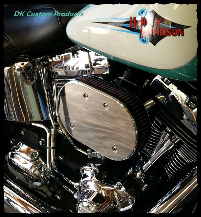 DK Custom Stage I 1 one HiFlow High Flow Performance Air Cleaner 828 Outlaw Twin Cam K&N External Breather EBS Machine Cut