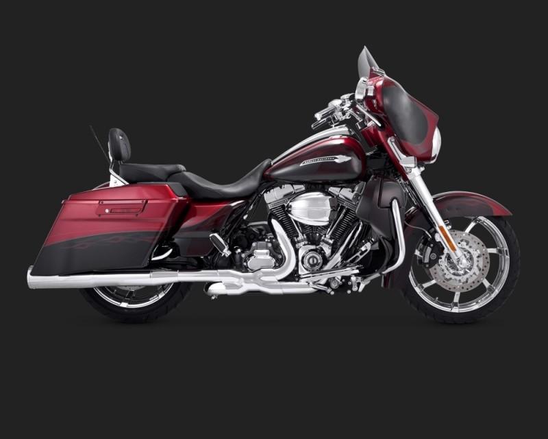 DK Custom V&H 2-1-2 Power Dual Headers for Harley Touring - Chrome Vance & Hines Trike Tri-Glide Freewheeler