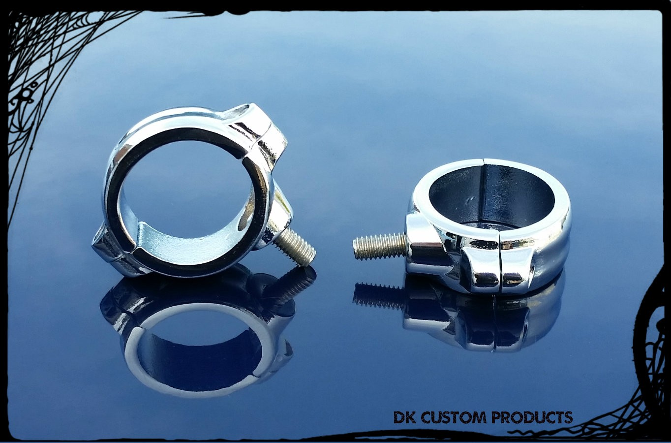 Chrome Clamps Fit 39mm Fork for Lights on Sportster Dyna