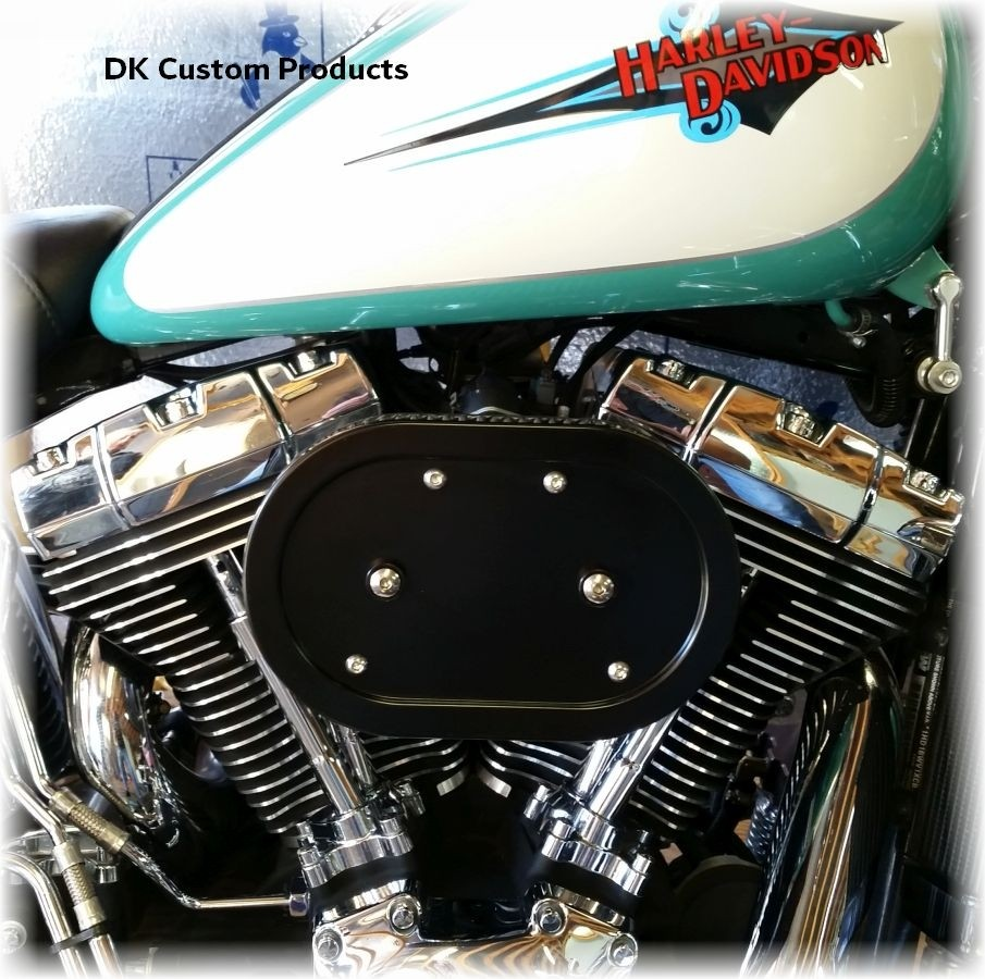 DK Custom Stage I 1 one HiFlow High Flow Performance Air Cleaner 828 Outlaw Twin Cam K&N External Breather EBS Naked