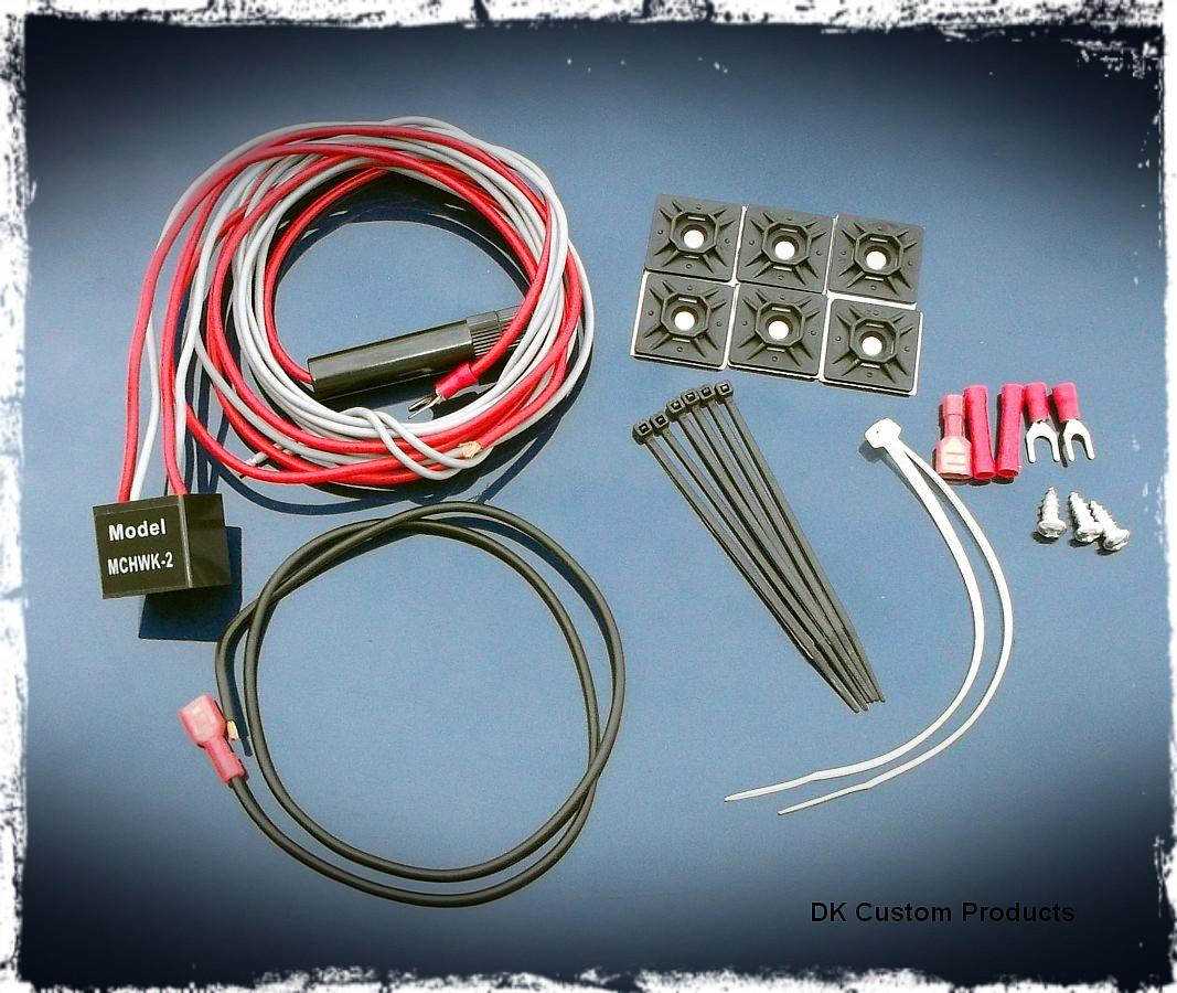 Air Horn Wiring Kit for Wolo Bad Boy Horns w/ wiring blocks DK Custom Harley Davidson Sportster Dyna Softail Touring Trike Freewheeler 12 volt