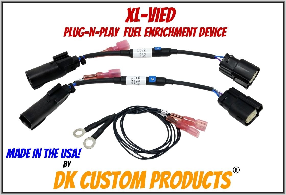 FL-ViED-10 Fuel Enrichment for Harley EFI Plug-n-Play DK Custom Harley-Davidson  Lowers Engine & Exhaust Temps - Improves Throttle Response
