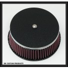 Wrinkle Black Face Plate Cover for A/C's with K&N HD-0800 Filters