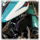 Wrinkle Black Complete HiFlow 828 Air Cleaner Dyna Softail Touring Trike