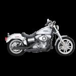 V&H Twin Slash Slip-ons for Harley Dyna - Matte Black