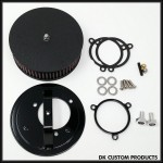 Wrinkle Black Complete HiFlow 587 Air Cleaner Harley Milwaukee-Eight M8 Harley Davidson DK Custom Outlaw Touring Twin Cam Dyna Softail Trike Freewheeler Sportster Tri Glide Kury Kuryakyn Stage I High Flow SE Heavy Breather