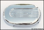 Chrome Speed Fin Cover for DK Custom Outlaw 828 Intake Stage I Air Cleaner
