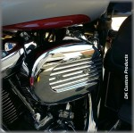 DK Custom Outlaw 828 HiFlow Air Cleaner Chrome Speed Fin Stage I Air Cleaner