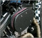DK Custom Harley Stage I IV Sportster 828 Outlaw High Flow HiFlow Air Cleaner EBS External Breather