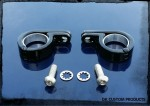 Black Hinged P Clamps For Lights Engine Guard & Frame Tube