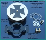 Black & Stainless HiFlow 587 Air Cleaner System Twin Cam DK Custom Harley Davidson Outlaw Air Cleaner Systems Complete EBS High Flow M-8 Milwaukee-Eight Softail Twin Cam Dyna  Touring Trike Freewheeler  Big Twin Stage I TBW Throttle By Wire