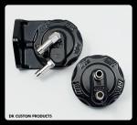 DK Custom Harley-Davidson Oil Filter Relocation Mount & Adapter Components