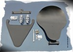 DK Custom Outlaw Bolt-On Solo Seat System w/ BARREL Springs - 2004-Up Sportsters Made in the USA Harley