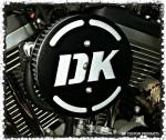 DK in 3-D Flake Complete HiFlow 587 Air Cleaner Sportster Sportster Harley Davidson High Flow Air cleaner DK Custom Nightster Iron 48 Custom Low SuperLow Stage I K&N EFI Carbureted Complete High Performance