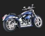 DK CustomV&H Short Shots Staggered Exhaust for Harley Softail - Chrome Vance & Hines Thunder Torque