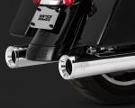 V&H Eliminator 400 Slip-ons for Harley Milwaukee-Eight Touring - Chrome Vance & Hines