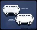 DK Custom Harley-Davidson Sportster Dyna Handlebar Top Clamp Indicator Lights Speedometer Relocation