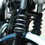 39mm Black Rubber Fork Boots Harley Sportsters Dyna  FXR Gator DK Custom American V-Twin