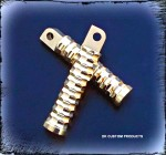 DK Custom Harley Polished  Brass Pegs For Harley-Davidson Grip Highway Passenger pegs sportster dyna softail touring Handmade in the USA