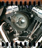 HiFlow 587 Air Cleaner System w/ Transparent Cover Twin Cam DK Custom Harley Davidson Outlaw Air Cleaner Systems Complete EBS High Flow M-8 Milwaukee-Eight Softail Twin Cam Dyna  Touring Trike Freewheeler  Big Twin Stage I TBW Throttle By Wire