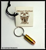 Silver Bullet Jewelry DK Custom Products Biker Harley Choker Necklace earrings bracelet key chain