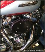 DK Custom Stage I 1 one HiFlow High Flow Performance Air Cleaner 828 Outlaw Milwaukee-Eight M8 K&N External Breather EBS Naked