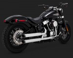 DK Custom V&H Twin Slash Slip-ons for Harley M8 Softail - Chrome Harley-Davidson Vance & Hines