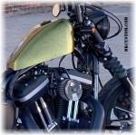 DK Custom Products Streamliner Bullet Turn Signals Running Lights Sano Black Chrome SEE & BE SEEN