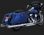 DK Custom V&H Monster Round Slip-ons for Harley Milwaukee-Eight M8 Touring - Chrome Harley-Davidson Vance & Hines Milwaukee Eight
