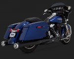 DK Custom V&H Monster Round Slip-ons for Harley Milwaukee-Eight M8 Touring - Black Harley-Davidson Vance & Hines Milwaukee Eight