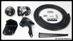 Black Hose Finishers Cool-n-Clean Oil Filter Relocation Kit For Harley Trikes DK Custom  Performance Sportster  Dyna Softail Touring Trike Freewheeler Big Twin Evo Milwaukee Eight Cooler Running Motor easy oil change